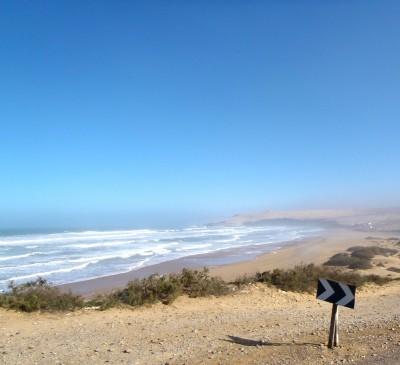 La côte entre Agadir et Essaoui