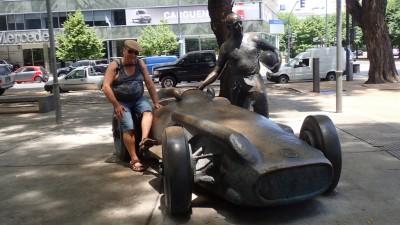 Avec Fangio et sa Mercedes
