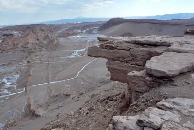 Du mirador du Coyote, vue sur la vallée de la lune