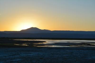 Bivouac et coucher de soleil sur la laguna