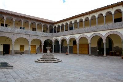 sur le site d'un palais d'un dignitaire inca