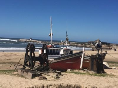 Bateaux de pêche à Punto Del Diablo