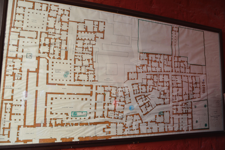 plan du monastère