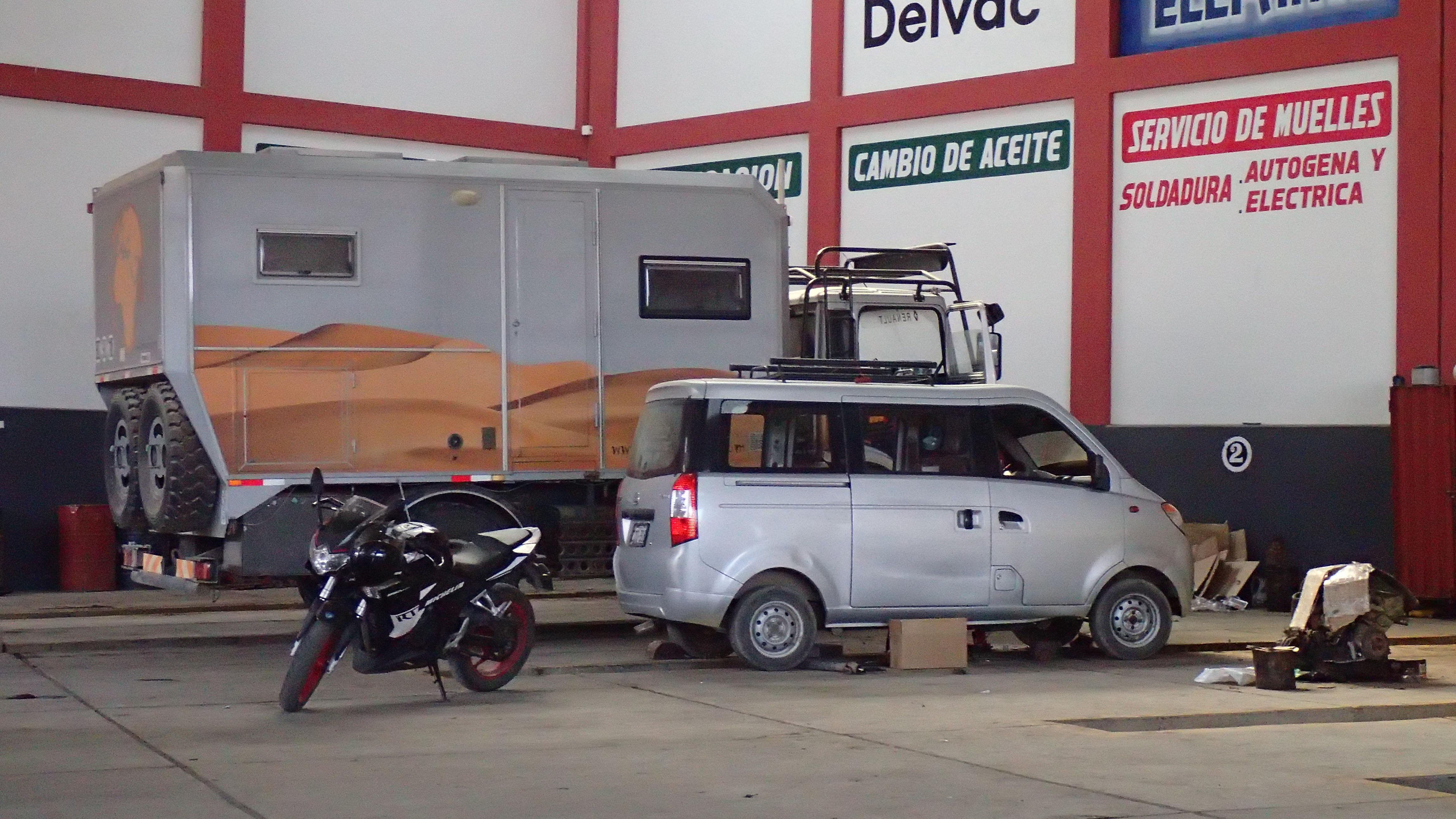Vidange, graissage au Pérou