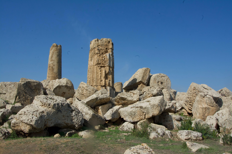 ce qui reste du temple de Zeus !
